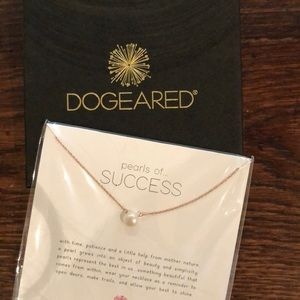 Dogeared pearl necklace